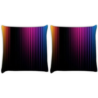 Snoogg Pack Of 2 Spectrum Of Light Digitally Printed Cushion Cover Pillow 10 x 10 Inch