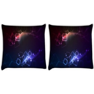 Snoogg Pack Of 2 Crystal Squares Digitally Printed Cushion Cover Pillow 10 x 10 Inch