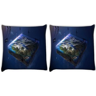 Snoogg Pack Of 2 Gaming Mode Digitally Printed Cushion Cover Pillow 10 x 10 Inch