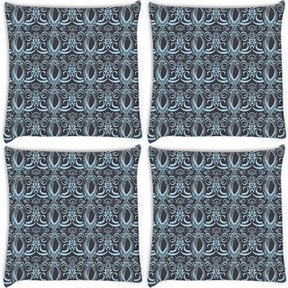 Snoogg Pack Of 4 Abstract Grey Pattern Digitally Printed Cushion Cover Pillow 10 x 10 Inch