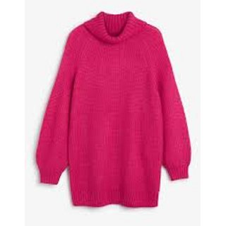 Full Sleeve Pink Colour Woolen Cardigan Sweater For Women's
