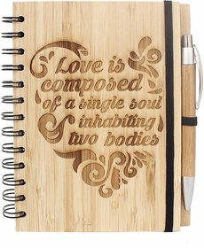 Regular Notebook  (Love is composed of a single soul - Bamboo, Wooden, Bamboo, Pack of 2)