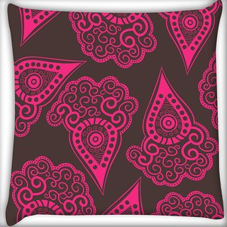 Snoogg Brown Pattern Digitally Printed Cushion Cover Pillow 10 x 10 Inch