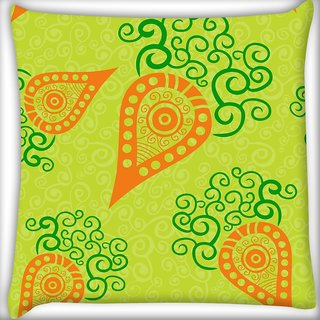 Snoogg Green Pattern Digitally Printed Cushion Cover Pillow 10 x 10 Inch