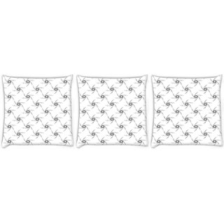 Snoogg Pack Of 3 Small Stars Digitally Printed Cushion Cover Pillow 12 x 12 Inch