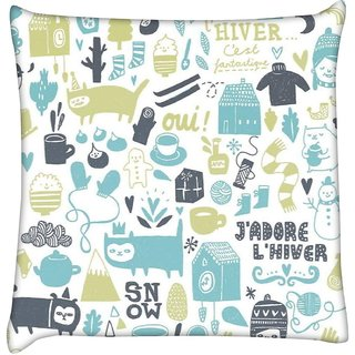 Snoogg lifestyle pattern 2562  Digitally Printed Cushion Cover Pillow 12 x 12 Inch