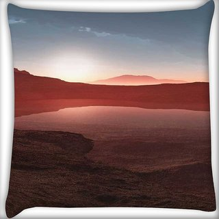 Snoogg nature wallpaper 4 Digitally Printed Cushion Cover Pillow 12 x 12 Inch