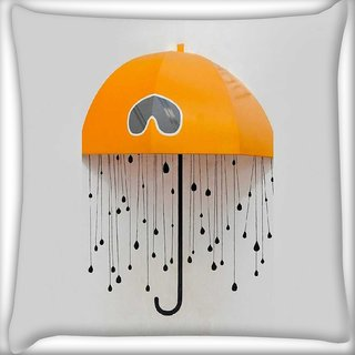 Snoogg battery animated Digitally Printed Cushion Cover Pillow 12 x 12 Inch
