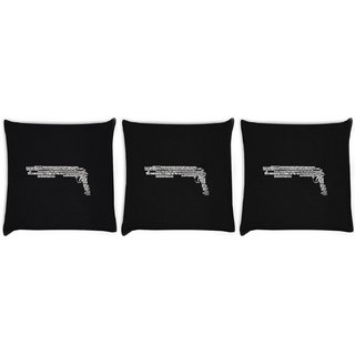 Snoogg Pack Of 3 Minimalism Digitally Printed Cushion Cover Pillow 12 x 12 Inch