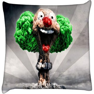 Snoogg  Blast Joker  Digitally Printed Cushion Cover Pillow 12 x 12 Inch