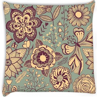 Snoogg  abstract floral background Digitally Printed Cushion Cover Pillow 12 x 12 Inch