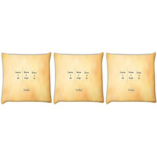 Snoogg Pack Of 3 Victor Hugo Digitally Printed Cushion Cover Pillow 12 x 12 Inch