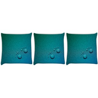 Snoogg Pack Of 3 I Love Music Digitally Printed Cushion Cover Pillow 12 x 12 Inch