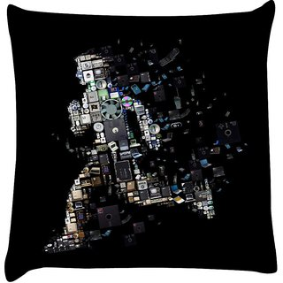 Snoogg kevin mitnick ghost 2653  Digitally Printed Cushion Cover Pillow 12 x 12 Inch