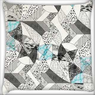 Snoogg abstract math Digitally Printed Cushion Cover Pillow 12 x 12 Inch
