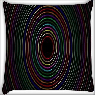 Snoogg Circular Digitally Printed Cushion Cover Pillow 12 x 12 Inch