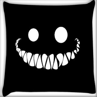 Snoogg Cute inface smile Digitally Printed Cushion Cover Pillow 12 x 12 Inch