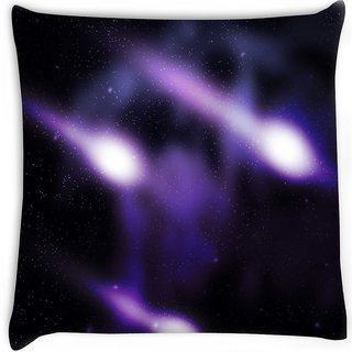 Snoogg  comets outer space backdrop  Digitally Printed Cushion Cover Pillow 12 x 12 Inch