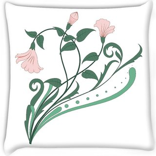 Snoogg  creative vintage flourish Digitally Printed Cushion Cover Pillow 12 x 12 Inch