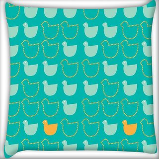 Snoogg be different Digitally Printed Cushion Cover Pillow 12 x 12 Inch