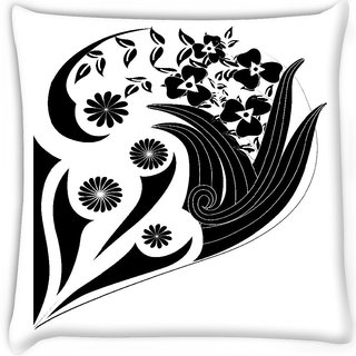 Snoogg  decor floral design Digitally Printed Cushion Cover Pillow 12 x 12 Inch