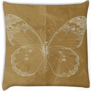Snoogg  vector illustration of a monarch butterfly hand draw  Digitally Printed Cushion Cover Pillow 12 x 12 Inch