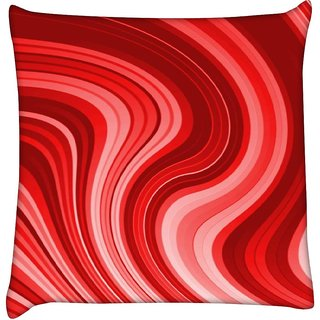 Snoogg Flow design 2369  Digitally Printed Cushion Cover Pillow 12 x 12 Inch