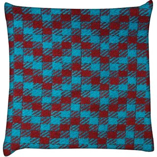 Snoogg Zig Zag design 2375  Digitally Printed Cushion Cover Pillow 12 x 12 Inch