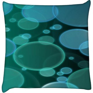 Snoogg bubbles design 2380  Digitally Printed Cushion Cover Pillow 12 x 12 Inch