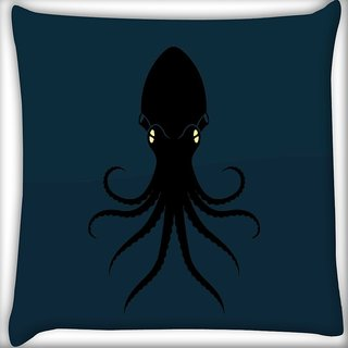 Snoogg Octopus Digitally Printed Cushion Cover Pillow 12 x 12 Inch