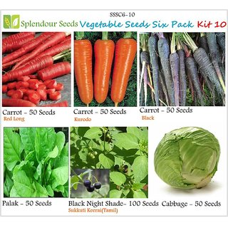 Vegetable seeds 6 pack seeds - Pack 10 - By Splendour Seeds