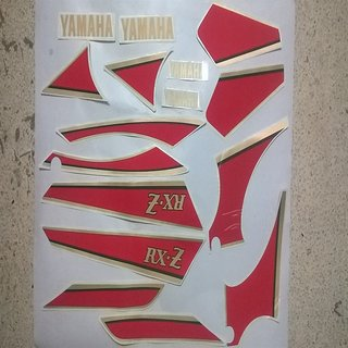 7ad943003 ORIGINAL STICKER KIT FOR YAMAHA RXZ 4 SPEED BLACK WINE RED MAROON BIKE