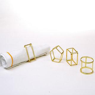 Deziworkz Geometric Napkin Ring (Set of 4)