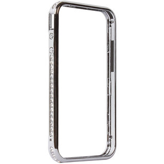 Callmate Bumper Diamond  Case For  iPhone 4 / 4S - Silver