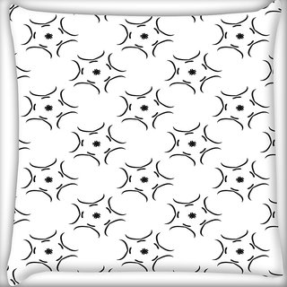 Snoogg White Pattern Digitally Printed Cushion Cover Pillow 12 x 12 Inch
