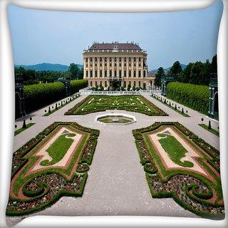 Snoogg Big Palace Digitally Printed Cushion Cover Pillow 12 x 12 Inch