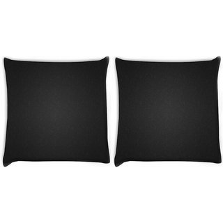 Snoogg Pack Of 2 Minimalistic Abstract Patterns Digitally Printed Cushion Cover Pillow 14 x 14 Inch
