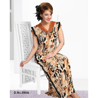 Buy Printed Nighty 1pc Daily Lounge Wear Night Dress 1 Gown 590A Animal  Print Maxi Nightie Bedroom Slip Online   ₹1290 from ShopClues 498fc8462