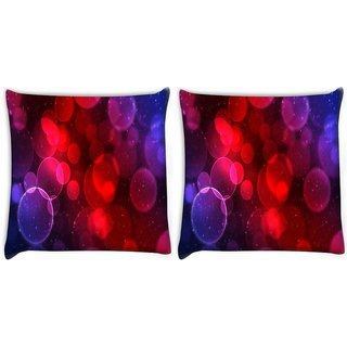 Snoogg Pack Of 2 Multicolor Balls Digitally Printed Cushion Cover Pillow 14 x 14 Inch