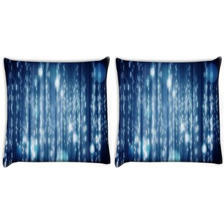 Snoogg Pack Of 2 Lite Blue Bubbles Digitally Printed Cushion Cover Pillow 14 x 14 Inch