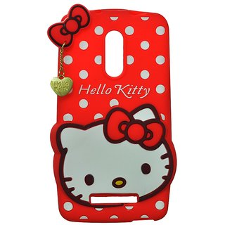 Style Imagine Hello Kitty 3D Designer Back Cover For Redmi Note 3 - Red