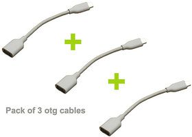 Sonilex USB 2.0 OTG Cable (Pack of 3)