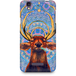 CopyCatz Smoking Deer Premium Printed Case For Micromax YU Yureka A05510