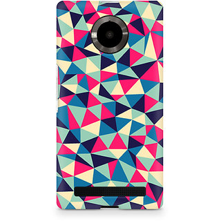 CopyCatz Colorful Triangles Premium Printed Case For Micromax YU Yuphoria