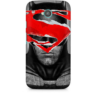 CopyCatz Batman With Superman Logo Premium Printed Case For Moto E2