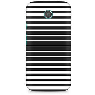 CopyCatz Black And White Stripes Premium Printed Case For Moto E