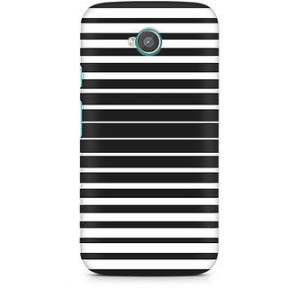 CopyCatz Black And White Stripes Premium Printed Case For Moto E2