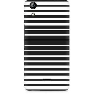 CopyCatz Black And White Stripes Premium Printed Case For Micromax Canvas Selfie 2 Q340