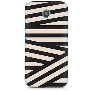 CopyCatz Criss Cross Premium Printed Case For Moto E