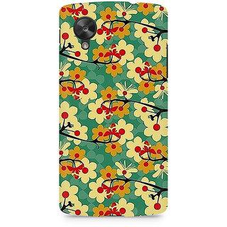 CopyCatz Flower Pattern Premium Printed Case For LG Nexus 5